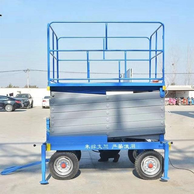 hydraulic cylinder mobile outdoor scissor cargo lift platform lifting