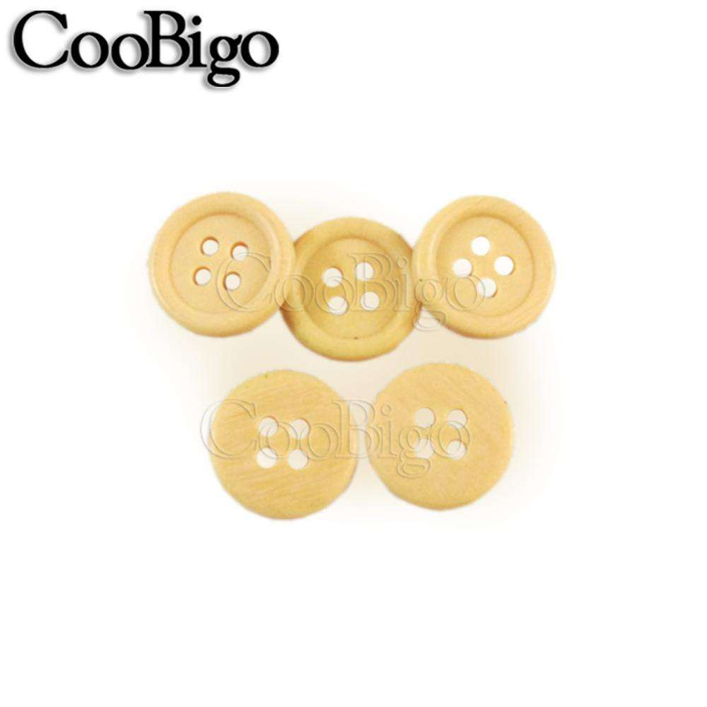 500pcs/Pack Dia.15mm(24L) Imitations Wood Resin Buttons 4 Holes Sewing Craft DIY Accessories Hap Bag Shoe Garment #FLN003-15A