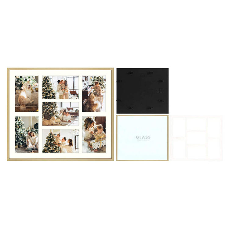 MDF Paper Tile Art Wall Wood Pictures Wooden Photo individuality Multilayer frame Simple Porous paperboard Photo frame