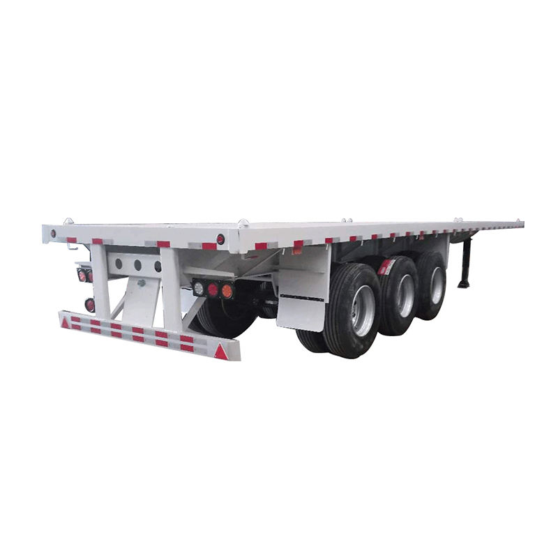 3 axle 40ft flatbed container semi trailer for sale