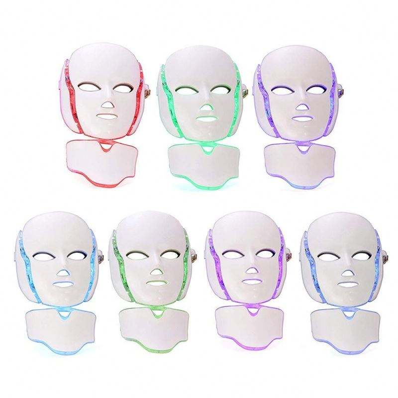 7 kleuren Led Photon Korea Facial Led Licht Masker Therapie/Pdt Led Gezichtsmasker Therapie