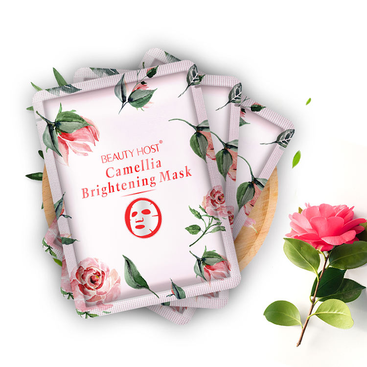 Cotton Cloth Cosmetics Flower Facial Mask Skin Care Moisturizing Brightening Camellia Face Mask