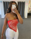 06BF065 Summer Latest Design 2020 Ladies Fashionable print Sexy boob tube top Casual Custom Women Tops
