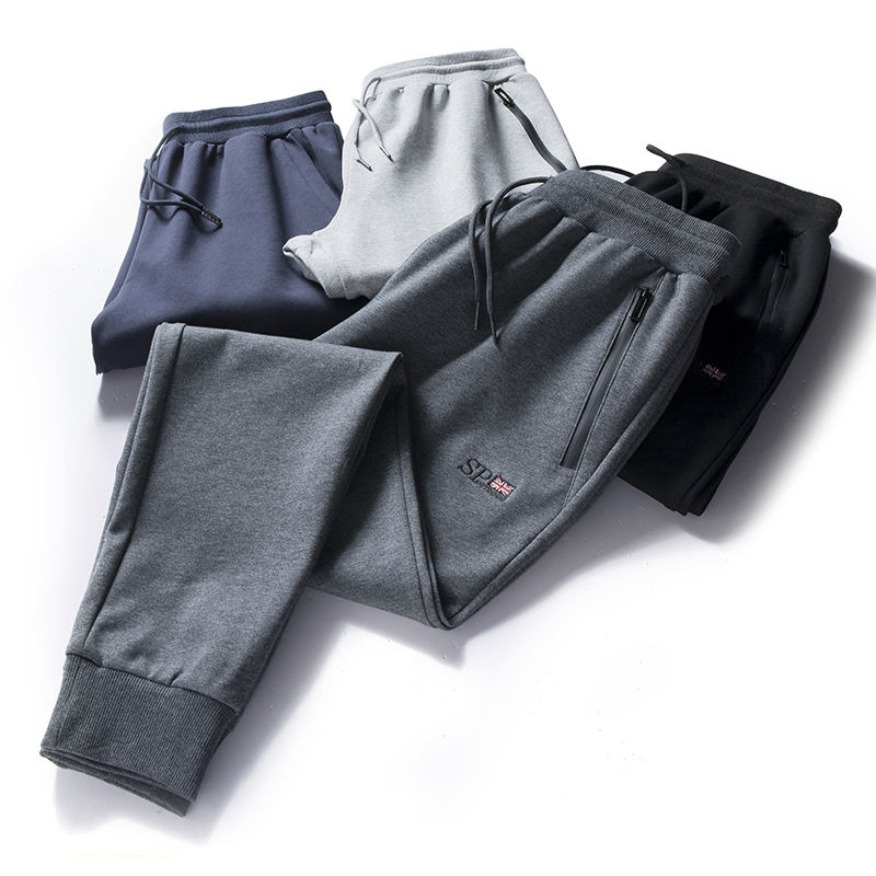 Wholesale comfortable fabric casual trousers workout loose mens sweatpants