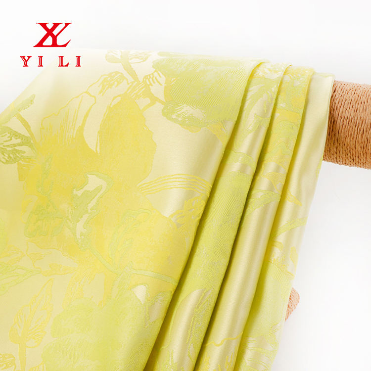 High Quality Comfortable Yellow Apparel Fabric Woven Polyester Fabric