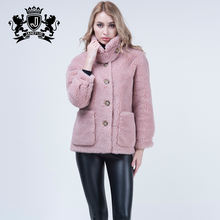 Shearing sheep fur coat genuine sheep fur jacket autumn winters women coat