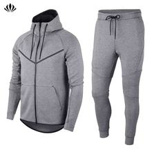 OEM High Quality Mens Jogger Pants Bottoms Zip Hoodies Sportswear Men Sport Tech Fleece Slim Fit Custom Tracksuit