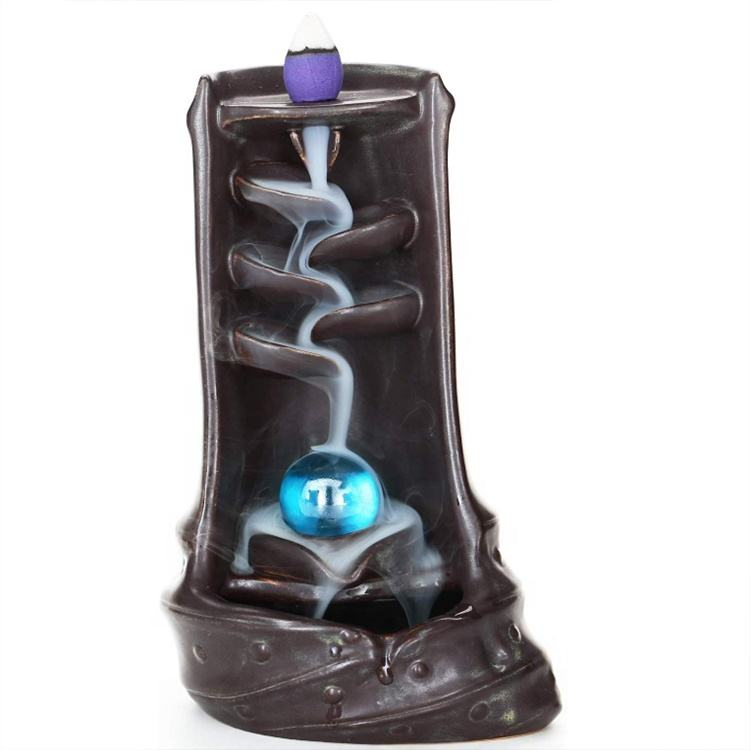 Creative Waterfall Backflow Ceramic Incense Burner Holder Home Decoration