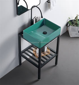 Factory Wholesale Green Modern Laundry Sink Ceramic Wash For Clothes Basin