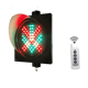 Remote Controller 200mm LED Traffic Light Red Cross Green Arrow LED Traffic Signals Wireless Controlled