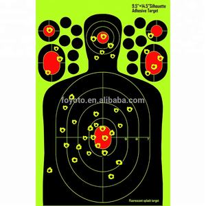 cheap splatter paper Shooting silhouette targets Fluorescent Orange  Easy to See Your Shots