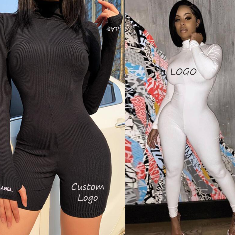 Wholesale 2020 Newest Fashion White Long Sleeve Jumpsuit Women Fitness Yoga Jumpsuit Drop Shipping
