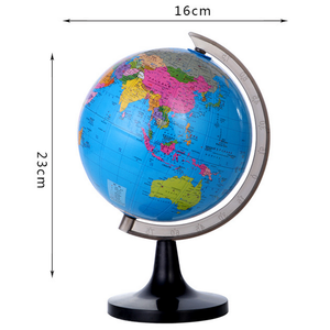 14.16cm 5.57 inch English Chinese One Piece Plastic Globe Model World Map Desktop Decoration Teach Cheap Globe Model Earth