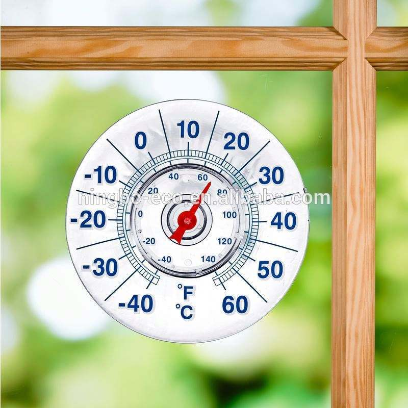 Zifferblatt 7 ''Haushalts Bimetall Indoor Outdoor Saugnapf Fenster Thermometer