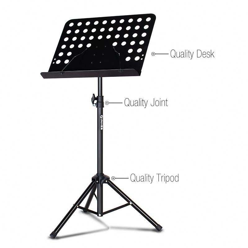 wholesaler metal adjustable folding orchestra music sheet stand for music note book