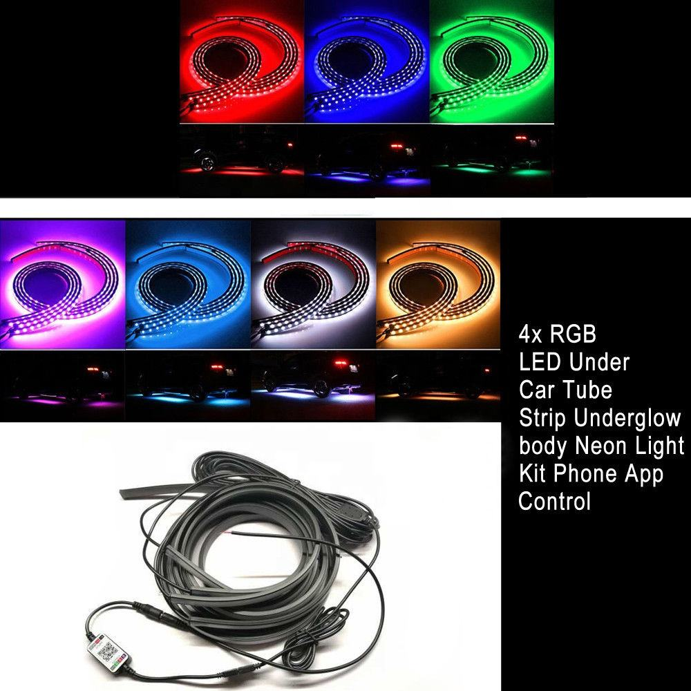 Led Neon Verlichting Sfeer Lamp Strips Rgb <span class=keywords><strong>Underbody</strong></span> Auto Auto Decoratieve Universal Car Flexibele Led Licht