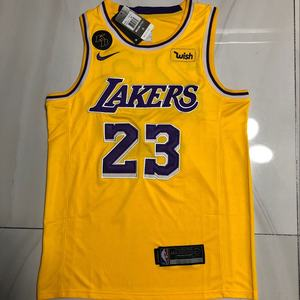 Laker s 23# James new arrival embroidery mesh breathable man sports vest basketball jerseys with KB label