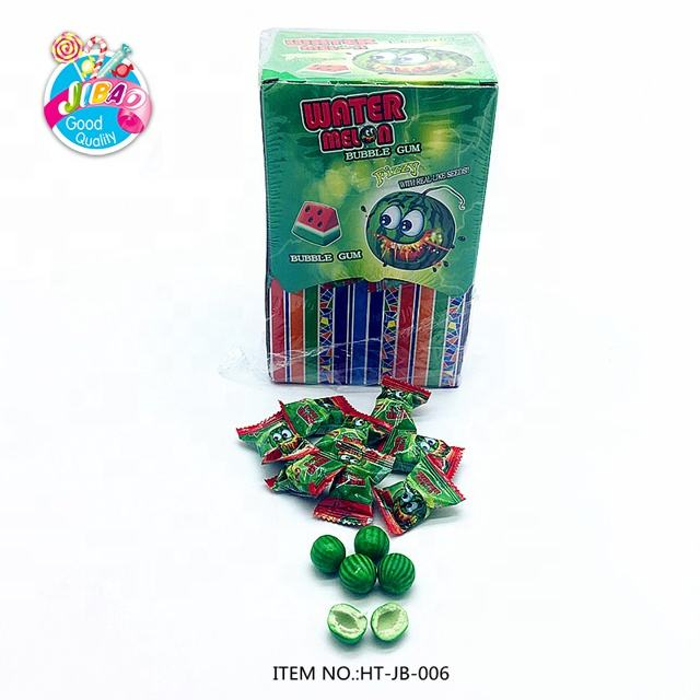 Fruit Sour Chewing Gum Stick Candy Magic Watermelon Ball Bubble Gum