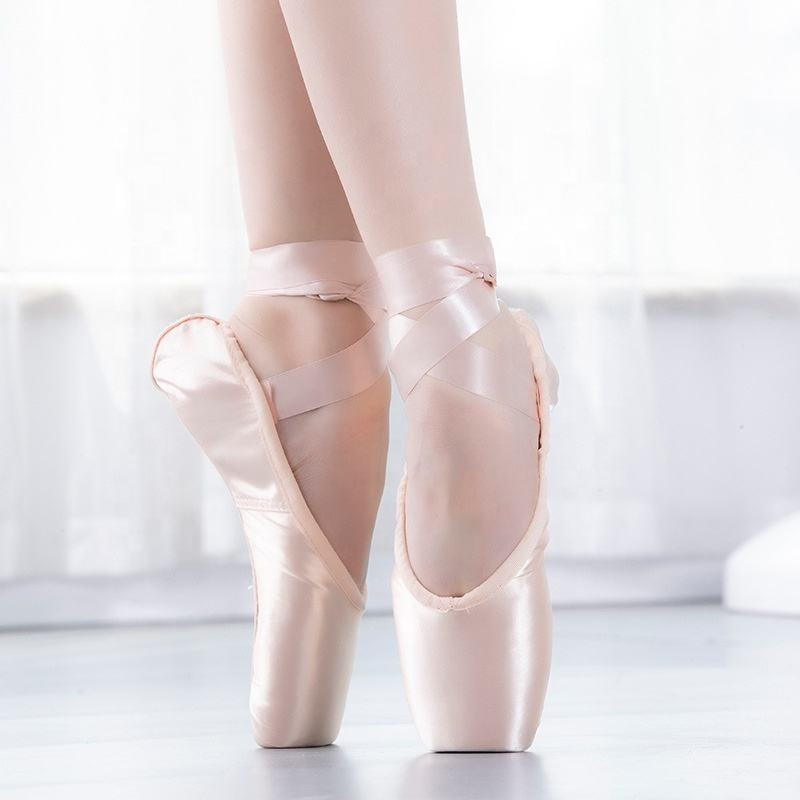 BL Ballet Dance satin ballet shoes Flat Shoes Wholesale Cheap Pointe Ballet Pointe Shoes For Sale