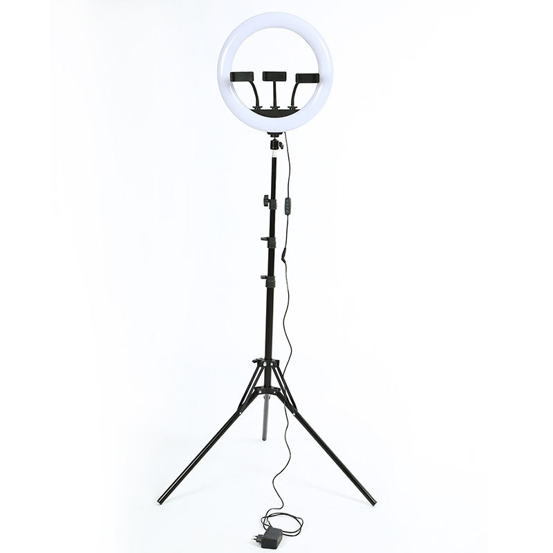 14 Inch 3 Phones Hold Dimmable LED Ring light Fill light With 1.9M Tripod Stand Photographic Selfie Live Stream Use