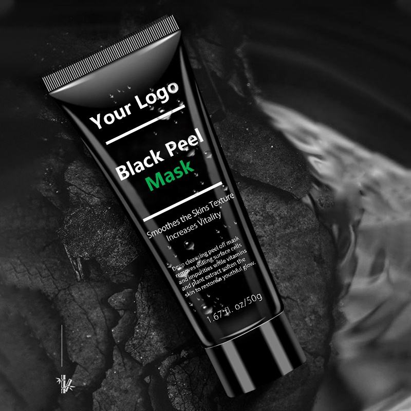 Masque facial Peel-Off au charbon de bois noir, étiquette privée, dispositif de protection contre les points noirs