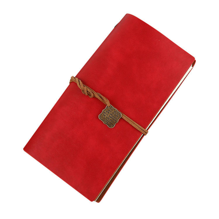 Leather travel hand book business creative schedule plan strap handy notepad portable notebook