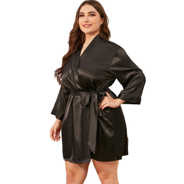 Hot sale products customized logo silk satin robe femme enceinte