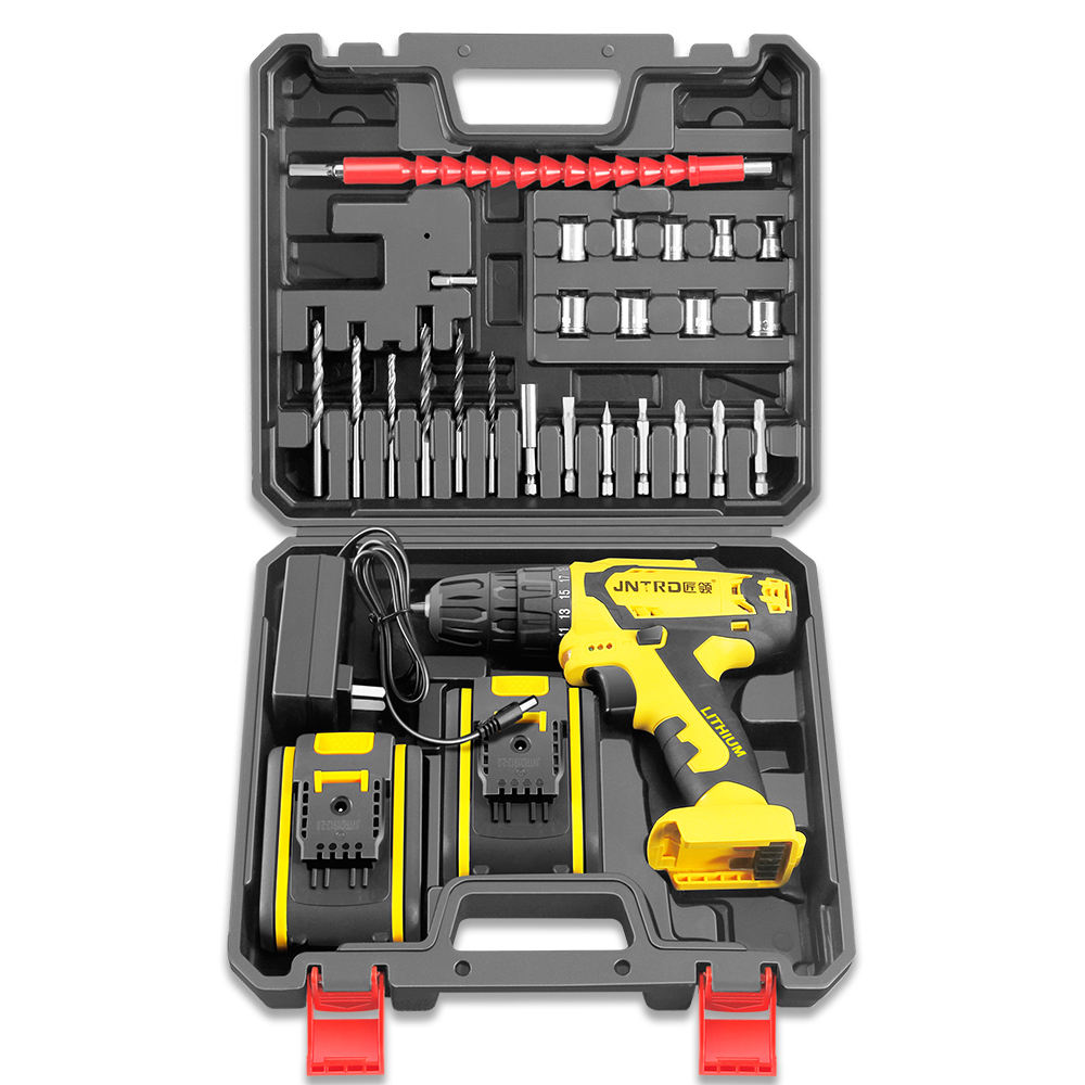 Industry Plastic Material 20V Power Tools Combo Set Electric with 2 Batteries JNT 27PCS Woodworking Power Tools Set