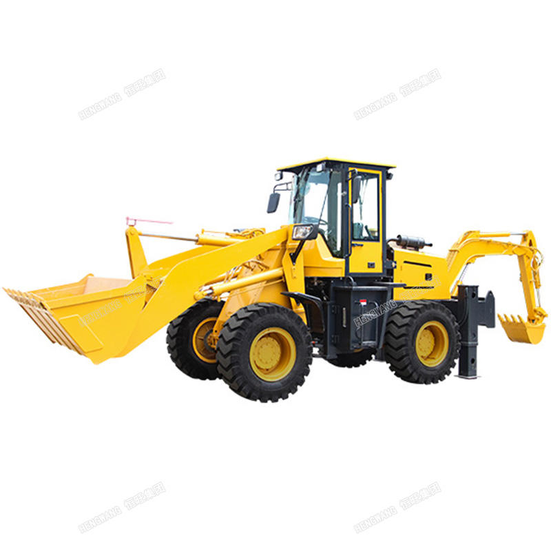 Wheel mounted backhoe loader construction machine small backhoe loader philippines