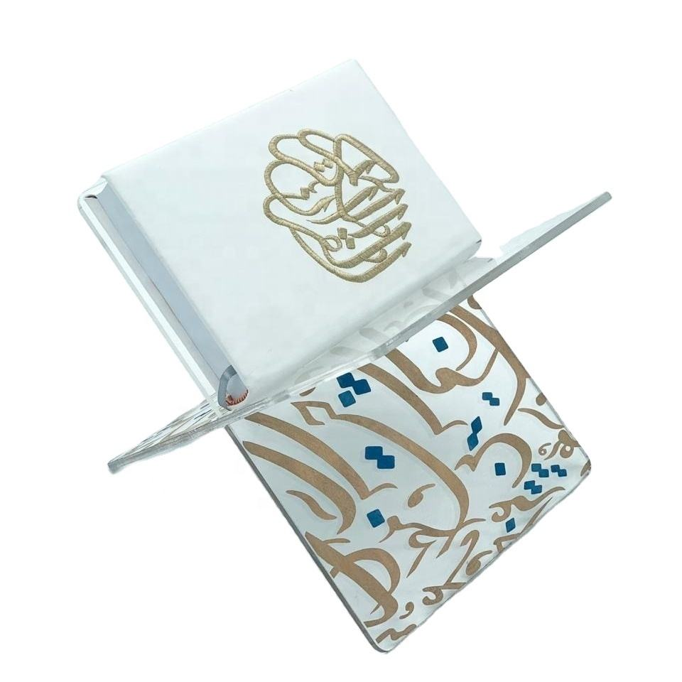 Folding clear customized acrylic quran holder