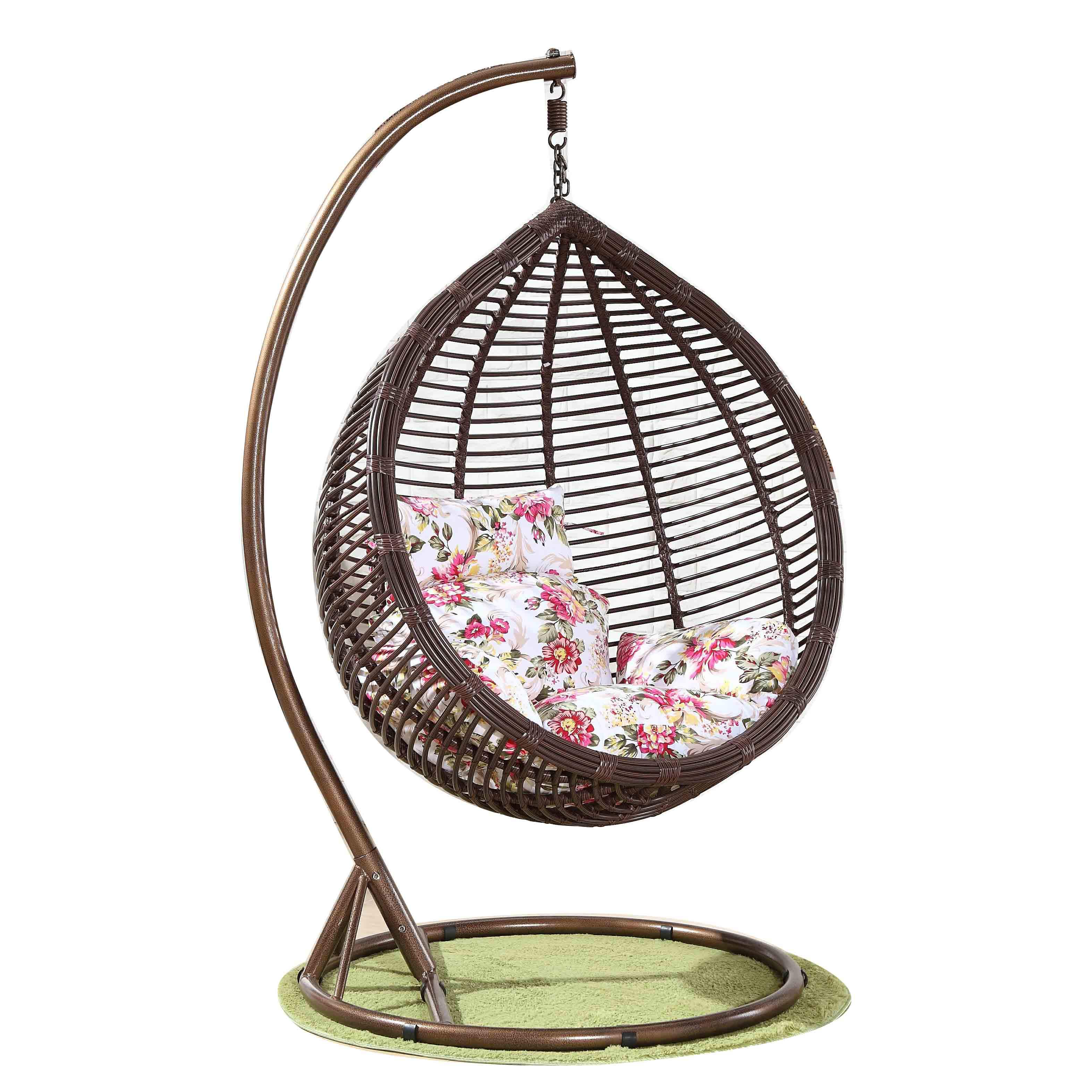 Hot Sales Popular Egg shaped Basket Garden Balcony Rattan Hanging Swing Chair