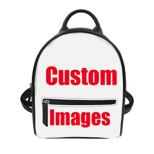 Women Quality PU Leather Mini Small Backpack Custom Logo/Print/Design/Text/Letter/Image Shoulder