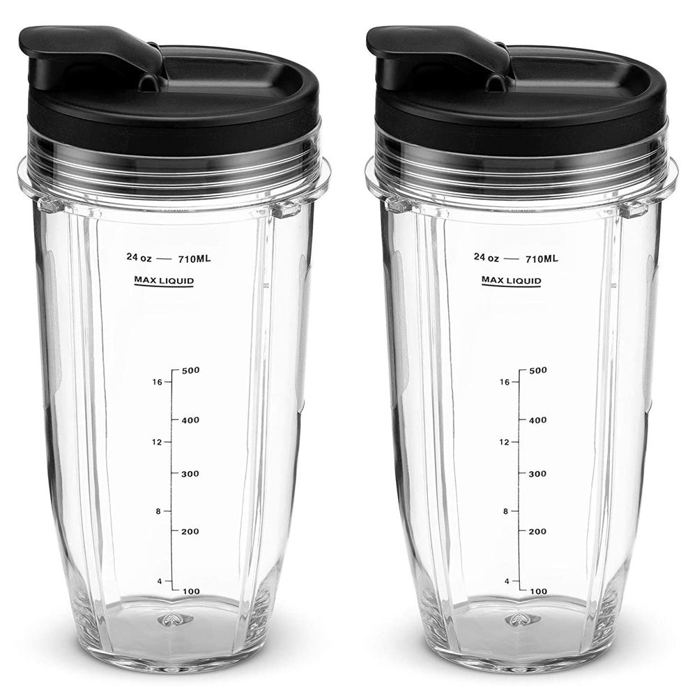 Replacement 24 oz Cup with Sip & Seal Lid - For Blender BL450 BL454 Auto-iQ BL480 BL481 BL482 BL687