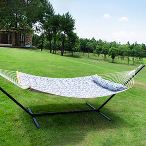 Factory Supply Outdoor Gewatteerde Stof Dubbele Persoon Opknoping Camping Slaap Bed Patio Schommel Tuin Hangmatten