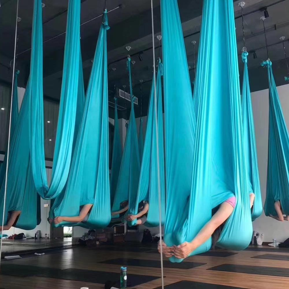 5m Piece Aerial Yoga Swing Aerial Yoga Hammock soft Nylon aerial yoga fabric silk