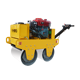 Hand Held Manual Roller Double Drum Walk Behind Vibratory Roller Electrical