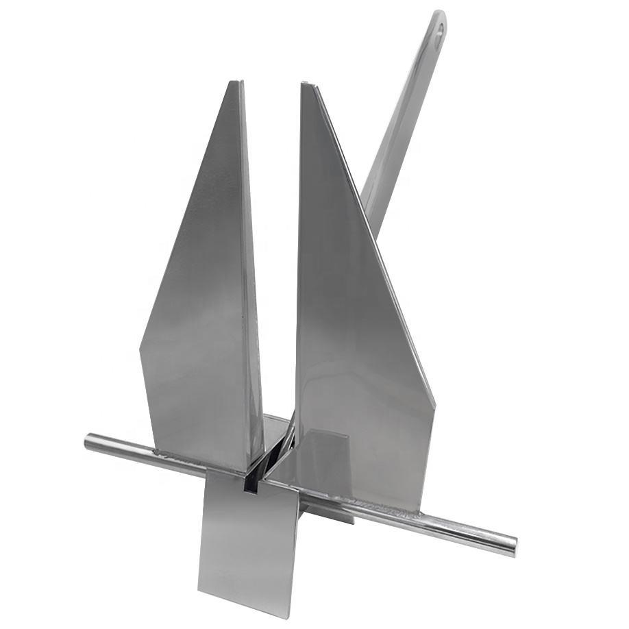 Top manufacturers Mirror polish Marine 316 Stainless Steel danforth anchor for boat
