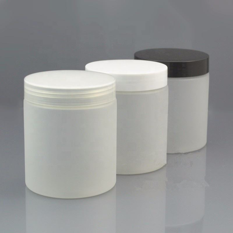 Cosmetics Storage Container 250g 300g 250ml 300ml Frosted clear PET plastic Jar with plastic screw cap