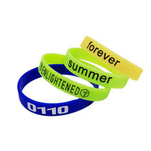 Custom logo silicone wristband rubber wrist bands