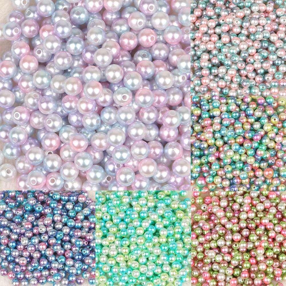 Wholesale 3-12mm Rainbow Color No Hole ABS Plastic Imitation Pearl Beads diy 10#