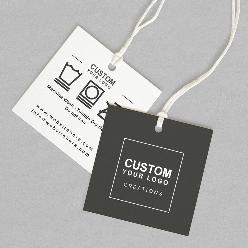 garment kraft paper jewelry clothes printing logo hang tag label