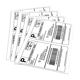 Wholesale A4 Sheets Sticker Labels Shipping Address Labels for Laser/Ink Jet Printer
