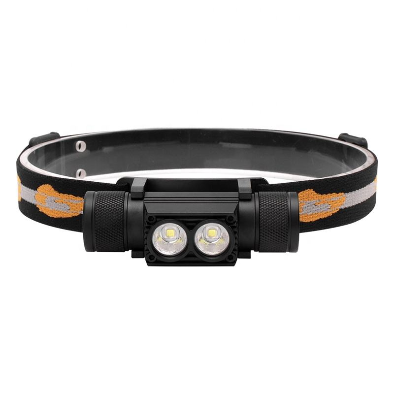 180 Degree Head Super Bright Waterproof Head Lamp 4 Modes LED Head Torch High Power USB Rechargeable Headlamp