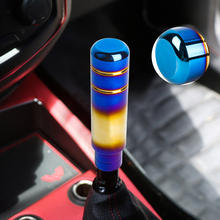 13cm Titan Verbrannt Blau burnt blue gold weighted car thailand JDM automatic gear stick shifter lever head Titanium Shift Knob