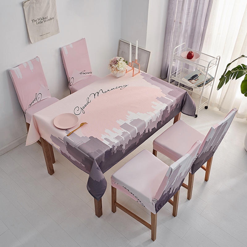 Modern High Quality Dining Table Protective Covers Tablecloth, Nordic style Wholesale Water Resistant Table Cottony/