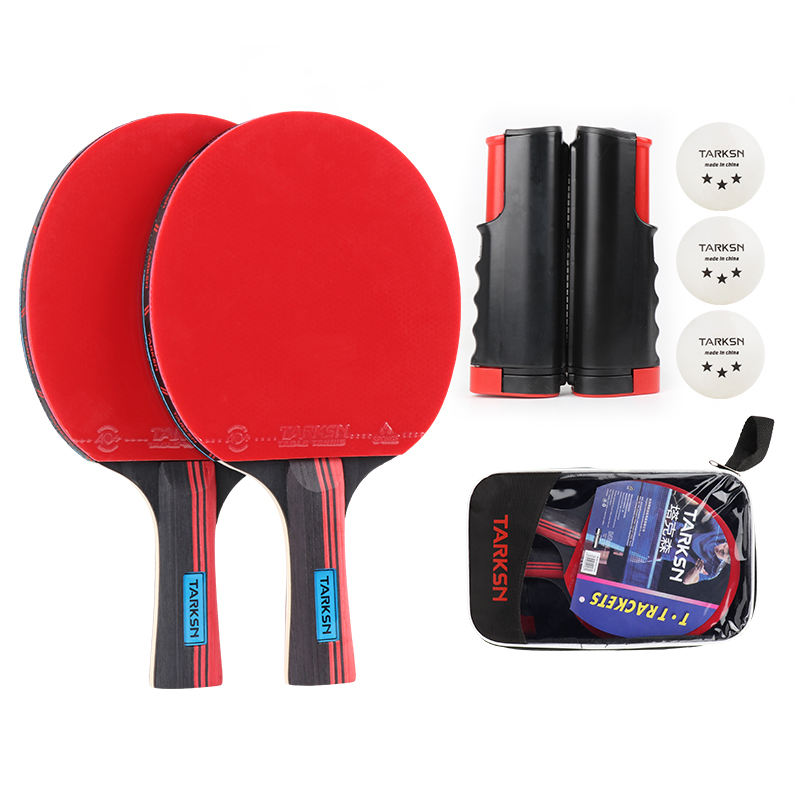 Finished racket set trend 7 layers of pure wood table tennis racket 2 racket 3 table tennis portable table