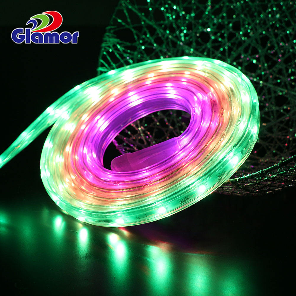 Flexible and Cuttable SMD-5050 Vision LED Strip Light with Vivid Color Transformation Effect and Remote Controller DC24V
