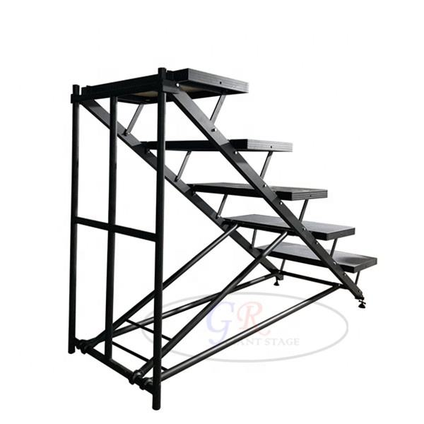 Aluminum black truss stage choral choir riser step for sale