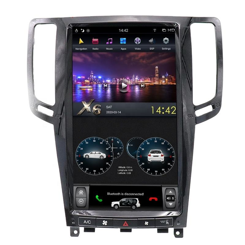 13.6 ''Android 9.0 PX6 Tesla Auto Video Voor Infiniti G25 G35 G37 2007-2013 Stereo Radio Gps Ondersteuning carplay 360 View Camera
