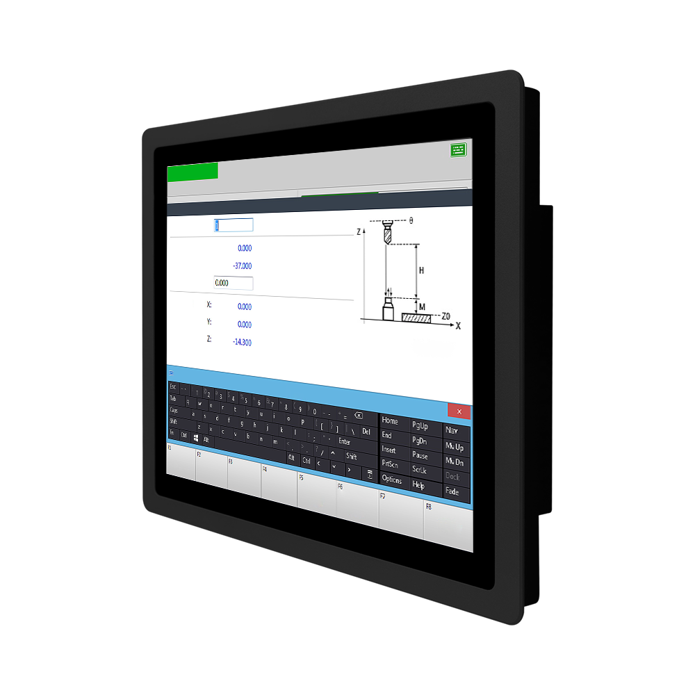 10.1 inch embedded waterproof industrial touch screen panel PC i3 4G 128G lcd touch panel industrial touch screen monitor